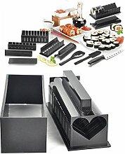 Bazaar 11pcs Schwarz DIY Sushi Hersteller Form Reis Rollenform Küche Werkzeug