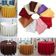 Bazaar 160cm Polyester Absorbent Runde Tischdecke für Hotel Restaurant Hochzeits Dekor
