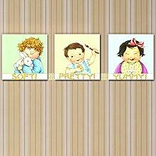 Bazaar 3PAG DIY Rahmenlose Gemälde Baby Öl