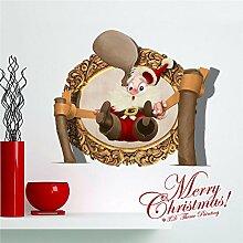 Bazaar 3D Weihnachtsweihnachtsmann PAG Aufkleber