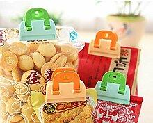 Bazaar 4 Stück Küchenaufbewahrungstasche Clips Seal Fresh Food Chips Kaffee Snack Organisation Werkzeuge