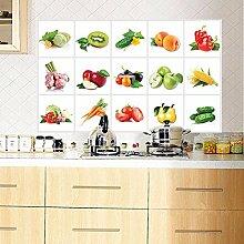 Bazaar 45 * 70cm Gemüse-Frucht-Ölbeweis Wand-Aufkleber-entfernbarer wasserdichter Aufkleber-Ausgangsdekor