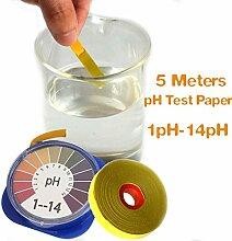Bazaar 5m pH Alkaline Acid Test Papier Wasser Lackmus Test für die Gartenaquarienpflanzen