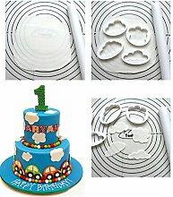 Bazaar 5Pcs Kunststoff Wolke Kuchen Plätzchen Buscuit Cutter Mold Fondant Form Kuchen, der Werkzeuge Sugar