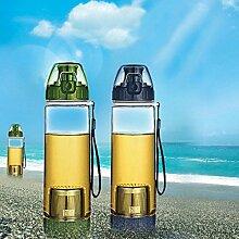 Bazaar 600ml Tragbare Früchtetee Infusing Wasserflasche Leak Proof Outdoor Sport Wasserflasche mit Infuser
