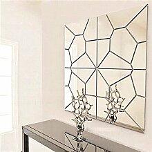 Bazaar 7pcs 20cm Basteln Geometrie Spiegel Wand