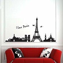 Bazaar 9060cm Eiffelturm Paris Wandtattoo Kunst
