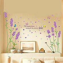 Bazaar Abnehmbare Lila Lavendel Wandaufkleber