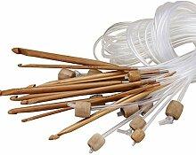 Bazaar Afghan Carbonized Bambus Stricknadel