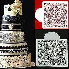 Bazaar Blumen Fondant Side Kuchen Form Rand Schablone Dekorieren Sugar Backen Werkzeuge