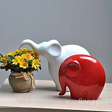 Bazaar China Keramik Ornament Elefant Keramik