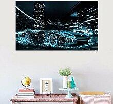 Bazaar Drehzahl die Auto Super Cool auf Wasser Malerei Diamant-5D Maison de Stickerei Dekoration