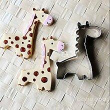 Bazaar Edelstahl Giraffe Ausstechform Kuchen Pastry Mould Backen Werkzeuge