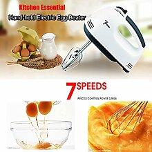Bazaar Elektro Ei Klopfer Hand 7 Geschwindigkeiten Röstung Appliances Egg Mixer Küchen Backen Werkzeuge
