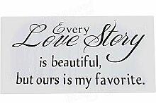 Bazaar Englisches Sprichwort Wandaufkleber Love