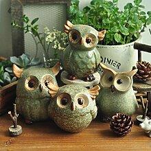 Bazaar Eule Keramik Ornaments Retro Animal Home