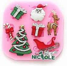 Bazaar F0534Silikon Weihnachten Rentier
