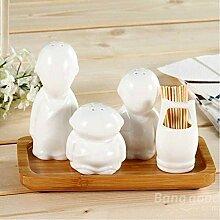 Bazaar Gewürzglas mit drei Mönchen, Keramik,