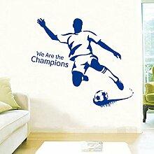 Bazaar I Love Fußball Wandtattoo Kreative