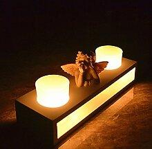 Bazaar Kerzenleuchter, Holz, Engel mit