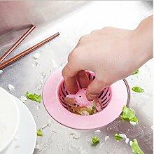 Bazaar Kreative Cartoon tragbaren Bodenablauf Haarfilter Waschbecken Sieb Küchenwerkzeuge