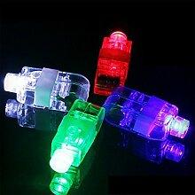 Bazaar Rot / Grün / Blau / Weiß / RGB Luminous Finger Licht Bunte LED Nachttischlampe Feiertags Lich