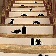 Bazaar Schwarz Maus und Ratten Mauer Loch-Maus