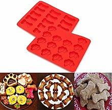 Bazaar Silikon-Form für Kuchen, Knochen, 2 Stück