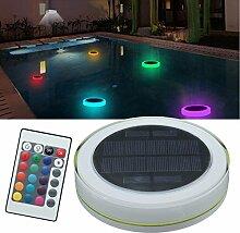 Bazaar Solar Power RGB Unterwasser LED Gartenteich Schwimmbad Schwimmendes Lich