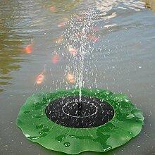 Bazaar Solar Schwimmende Lotusblatt Brunnen Wasser Pumpen Garten Teich Dekoration