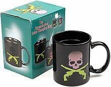 Bazaar Tasse mit Totenkopf-Motiv,