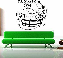 BB.er Cartoon Hund Baden Wohnzimmer Wandaufkleber Entfernen Schlafzimmer Dekorieren Aufkleber, 58 * 60 cm