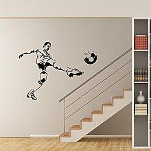 BB.er Sport Kick Fußball Wandaufkleber können Wohnzimmer Schlafzimmer dekorative Aufkleber, 58 * 43 cm entfernen