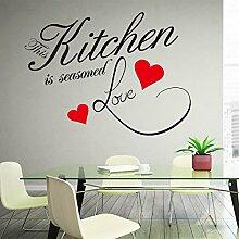 BB.er Wandaufkleber Englisch Liebe Küche