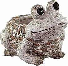 dekoo24 Frosch aus Gusseisen Gartenfrosch Froschfigur Dekofrosch Landhaus