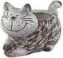 bb10 Schmuck Großes Pflanzgefäß Katze 33 cm