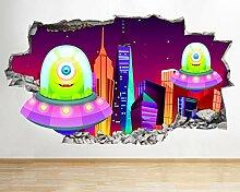 BB195 Alien City Cartoon Kinder Spaß zertrümmert