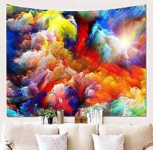 BBAGG Aquarellwolken Galaxy Tapisserie Hippie