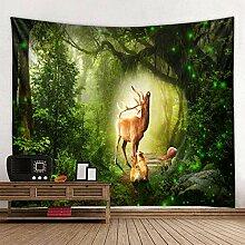 BBAGG Baum Landschaft Mandala Wandteppich Wald