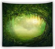 BBAGG Psychedelic Forest Tapisserie Wandbehang