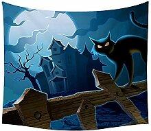 BBAGG Tapisserie Halloween Trick Treat Horror