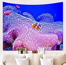 BBAGG Tapisserie Koralle Wandbehang Wandtuch Decke