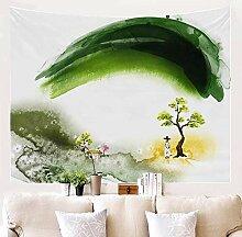 BBAGG Tapisserie Wandbehang Dekor Aquarell