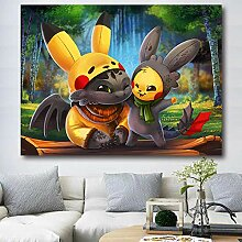 BBAGG Tapisserie Wandbehang Dekor Pikachu Wandtuch