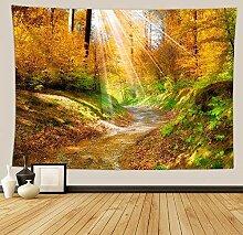 BBAGG Wandbehang Tapisserie Landschaft Fluss