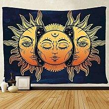 BBAGG Wandbehang Wandteppich Sonne Wandteppich