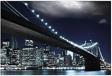 Bbaodan Fototapete Brooklyn Brücke Tapete