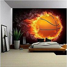 Bbaodan Fototapete Feuriger Basketball Tapete