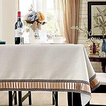 Bbdsj Einfarbige Tischdecke,Hochwertige Einfarbige