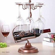 Bbdsj Eisen Weinregal Weinglas Rahmen Dekoration